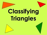 Classifying Triangles - Length of Sides PowerPoint by Kelly Katz