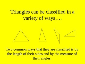 Classifying Triangles Lesson and Exercises