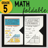 Doodle Notes - Classifying Triangles Math Interactive Notebook Foldable