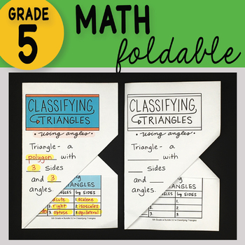 Classifying Triangles Math Interactive Notebook Foldable