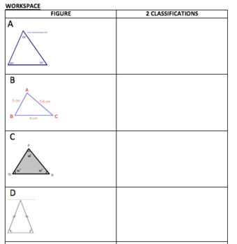 Classifying Triangles Memory Match Game