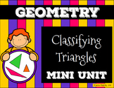 Classifying Triangles Presentation and Assessment/Vocabulary Pack