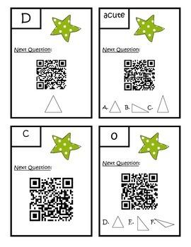 Classifying Triangles QR Code Scavenger Hunt - 4.G.2 Fourth Grade Math