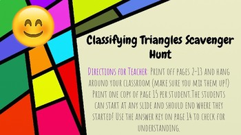 Classifying Triangles Scavenger Hunt (with Emojis!)