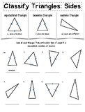 Classifying Triangles: Sides