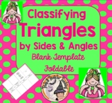 Classifying Triangles Sides and Angles Foldable for Student Note Taking