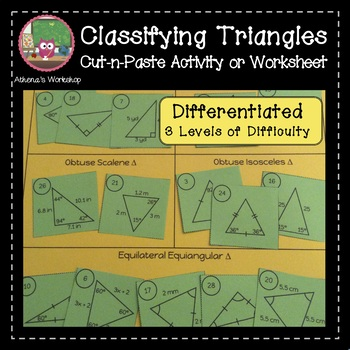 Classifying Triangles Sort - Differentiated
