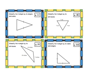 Classifying Triangles Task Cards