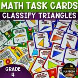 Classifying Triangles Task Cards (4th Grade)