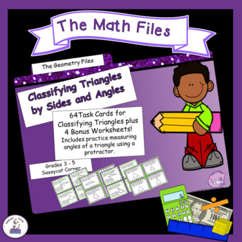 Geometry - Classify Triangles by Sides and Angles Task Cards