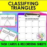 Classifying Triangles Task Cards for Distance Learning