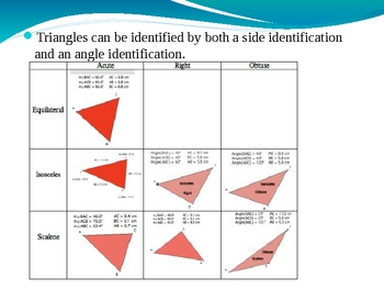 Classifying Triangles and Quadrilaterals