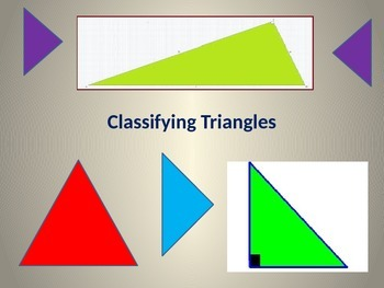 Classifying Triangles as Acute, Obtuse or Right