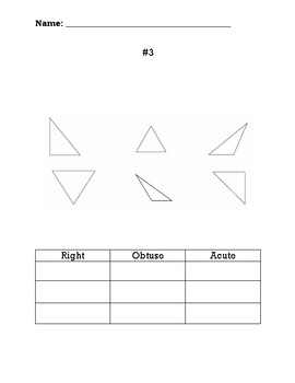 Classifying Triangles by Angles - Choice Board
