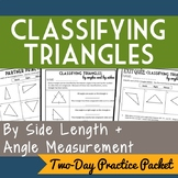 Classifying Triangles by Angles and Sides, 2-Day Geometry