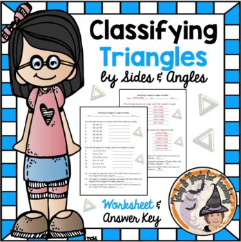 Classifying Triangles by Angles and Sides Practice Workshe
