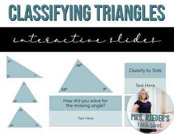 Classifying Triangles by Side and Angle - Editable, Interactive Slides