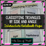 Classifying Triangles by Side and Angle Interactive Notebook Pages