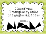 Classifying Triangles by Sides and Angles QR Code Task Cards!