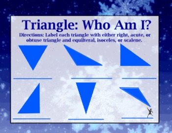 Classifying Triangles by Sides and Angles (Winter Themed)