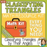 Classifying Triangles by their Angles acute, obtuse, right