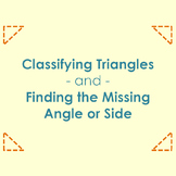 Classifying Triangles with Missing Sides and Angles Task Cards