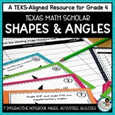 Two Dimensional Shapes and Symmetry and Measuring Angles | TEKS Math Activities