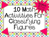 10 Math Activities For Classifying Figures  CCSS Aligned 4.G.1, 4.G.2, 5.G.3