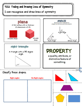 Classifying Two Dimensional Shapes Interactive Notebook Page- 4.G.2