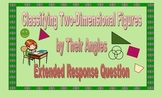Classifying Two-Dimensional Shapes by Their Angles - Extended Response Question