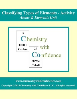 Classifying Types of Elements - Activity