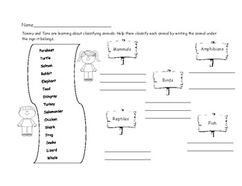 Classifying Vertebrates
