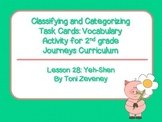 Classifying and Categorizing Task Cards for Journeys Grade 2
