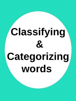 Classifying and Categorizing Words