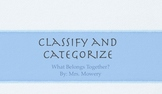 Classifying and Categorizing with Young Students