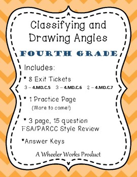 Classifying and Drawing Angles for Fourth Grade: Exit Tick