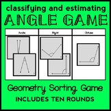 Classifying and Estimating Angles Game, Classifying Angles Geometry Sort