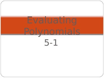 Classifying and Evaluating Polynomials