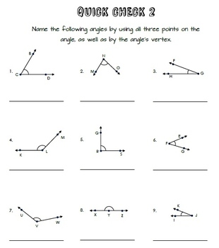 Classifying and Measuring Angles Practice Packet (Common Core Aligned)