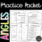 Classifying and Measuring Angles Practice Packet (Common C