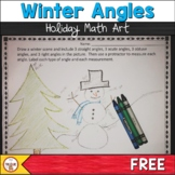 Classifying and Measuring Angles- Winter Scenes and Holiday Art