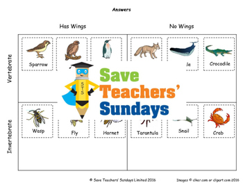 Classifying animals (Venn and Carroll diagrams) Lesson plan and Worksheets