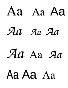 Classifying the Alphabet Book