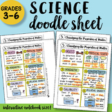 Classifying the Properties of Matter Doodle Sheet - EASY t