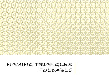 Classifying triangles foldable