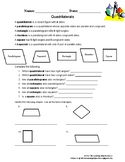 Classifying types of Quadrilaterals Worksheet