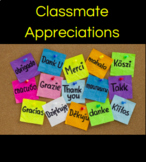 Classmate Appreciations