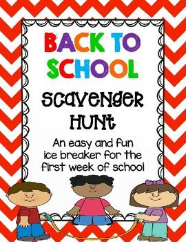 Classmate Back to School Scavenger Hunt