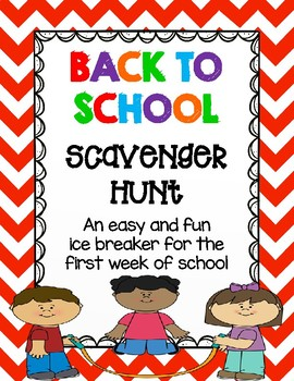 Back to School Classmate Scavenger Hunt - Back to School Ice Breaker