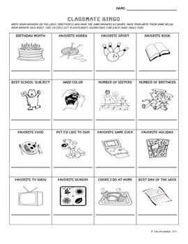 Classmate Bingo!